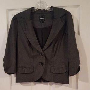 My Michelle black and white checkered blazer Large